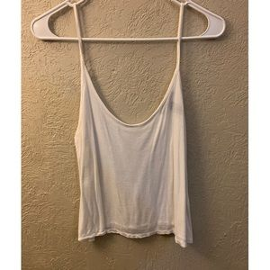 Forever 21 slightly cropped white tank top
